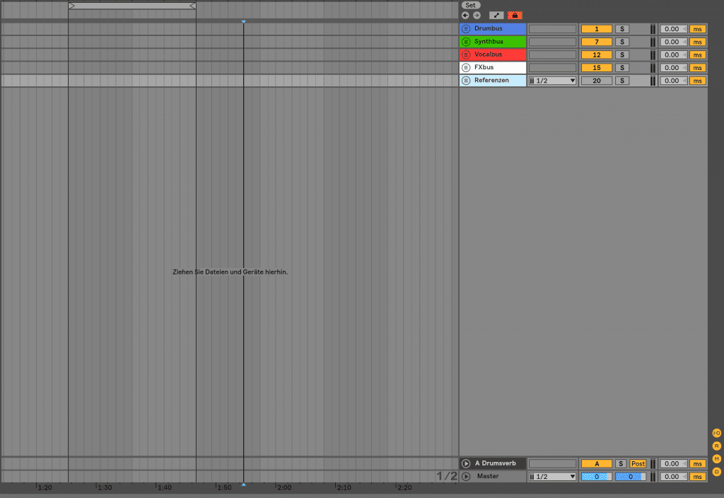 Standard template in Ableton 10