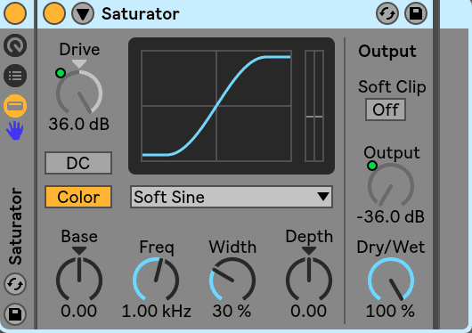 Saturation set to max (Use with Care)